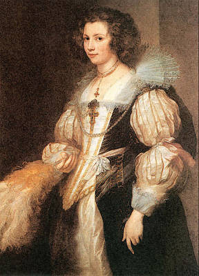Digital Art - Portrait Of Maria Lugia De Tassis  by Sir Antony van Dyck