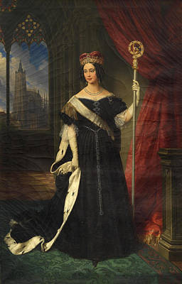 Sicily Painting - Portrait Of Maria Theresa Of Austria Queen Of The Two Sicilies by Johann Nepomuk Ender