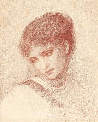 Drawing - Portrait Of Maria Zambaco by Edward Burne-Jones