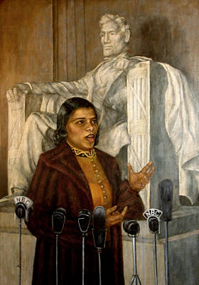 Philadelphia History Painting - Portrait Of Marian Anderson by Sylvia Castellanos