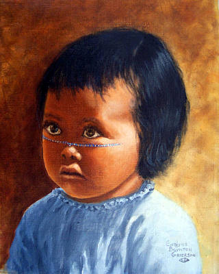 Painting - Portrait Of Marias Baby A Seri Indian by Evelyne Boynton Grierson