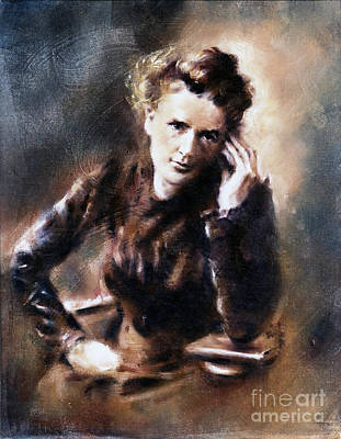 Painting - Portrait Of Marie Curie by Ritchard Rodriguez