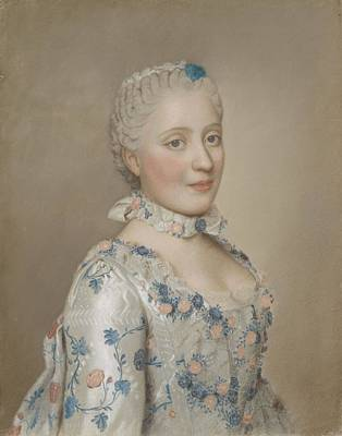 Portrait Of Marie Josephe Of Saxony 1731-67, Dauphine Of France, Jean-etienne Liotard, 1749 Art Print by Celestial Images