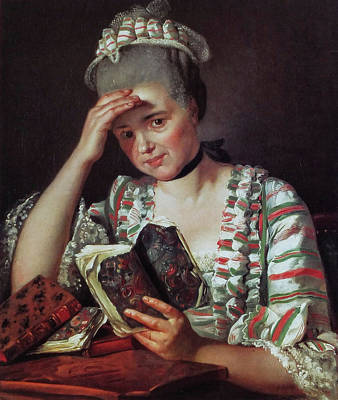 Reading Painting - Portrait Of Marie-josephine Buron by Jacques-Louis David