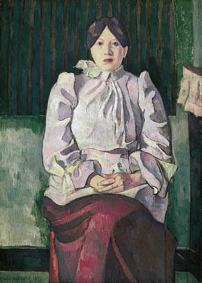 Sitting Painting - Portrait Of Marie Lemasson by Emile Bernard