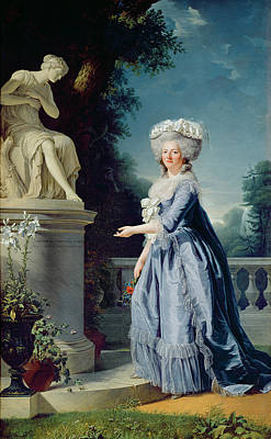 Grey Dress Painting - Portrait Of Marie-louise Victoire De France by Adelaide Labille-Guiard