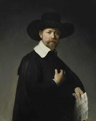 Painting - Portrait Of Marten Looten by Rembrandt