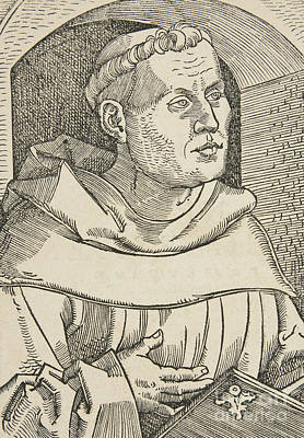 Theology Drawing -  Portrait Of Martin Luther by German School