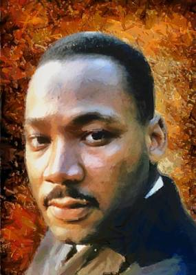 Digital Art - Portrait Of Martin Luther King by Charmaine Zoe