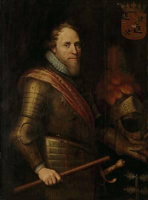 Man Painting - Portrait Of Maurice, Prince Of Orange, Michiel Jansz Van Mierevelt, C. 1607 - C. 1613 by Michiel Jansz van Mierevelt