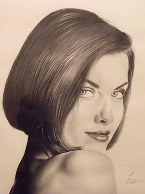 Portrait Drawing - Portrait Of Megan by Neal Luea