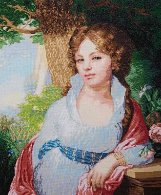 Portrait Of M.i. Lopukhina Art Print by Elena Soldatkina