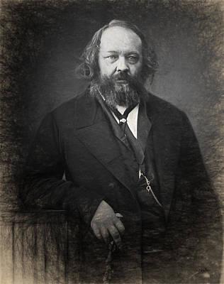 Portrait Of Mijail Bakunin  Art Print by Joaquin Abella