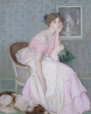 Painting - Portrait Of Miss Ella Carmichael by Edmond Aman-Jean