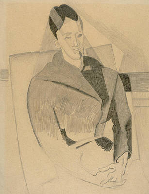 Drawing - Portrait Of Mme Cezanne After Cezanne by Juan Gris
