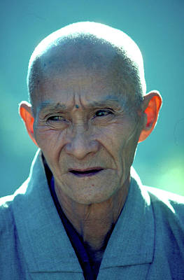Photograph - Portrait Of Monk In China by Carl Purcell