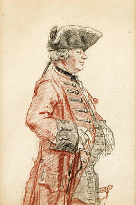 Drawing - Portrait Of Monsieur De La Neuville Morfleury by Louis Carrogis Carmontelle
