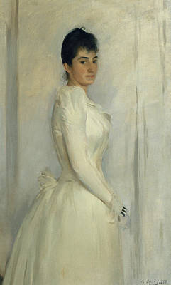 Ramon Painting - Portrait Of Montserrat Carbo by Ramon Casas