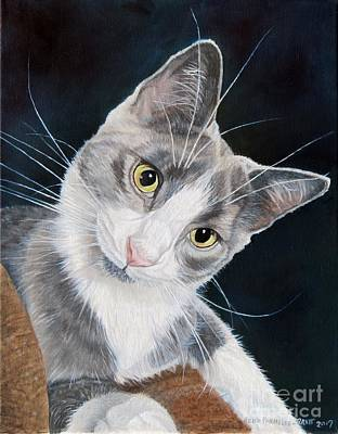 Painting - Portrait Of Mouse by Heidi Parmelee-Pratt