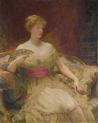 Portraits Painting -  Portrait Of Mrs Austin Mackenzie by MotionAge Designs