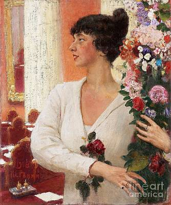Portrait Of Mrs Beatrice Levi Art Print by MotionAge Designs