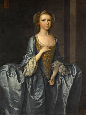 Painting - Portrait Of Mrs. Hibbert When A Girl by Thomas Frye