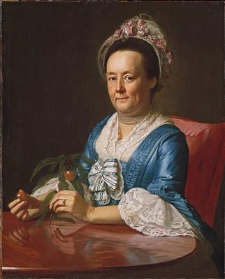 Painting - Portrait Of Mrs John Winthrop by John Singleton Copley