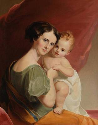 Portrait Of Mrs Art Print by Thomas Sully