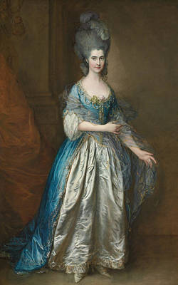 Elaborate Painting - Portrait Of Mrs William Villebois by Thomas Gainsborough