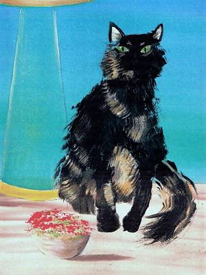 Painting - Portrait Of Muffin by Denise Fulmer