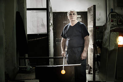 Photograph - Portrait Of Murano Glassblower by Jean Gill