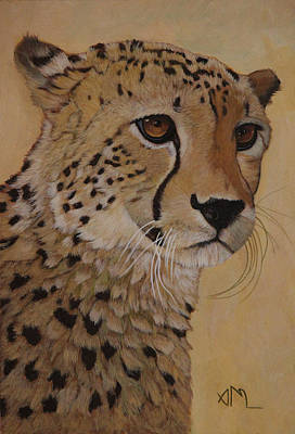 Painting - Portrait Of Murphy - Male Cheetah by Antonio Marchese