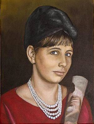 Painting - Portrait Of My Mother Early Sixties by Rob De Vries