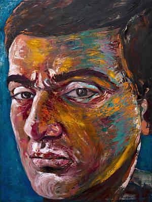 Painting - Portrait Of My Son Javid by Siyavush Mammadov