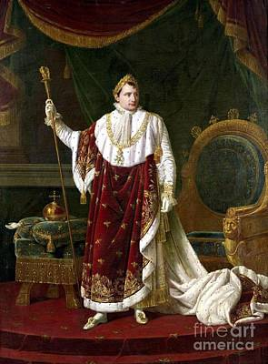 Poster Painting - Portrait Of Napoleon In Coronation  by MotionAge Designs