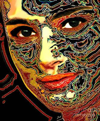 Digital Art - Portrait Of Natalie Portman by Zedi