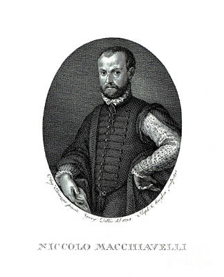 Portrait Of Niccolo Machiavelli  Print by Agnolo Bronzino