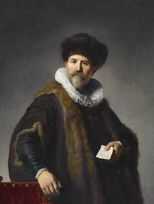 Painting - Portrait Of Nicolaes Ruts by Rembrandt