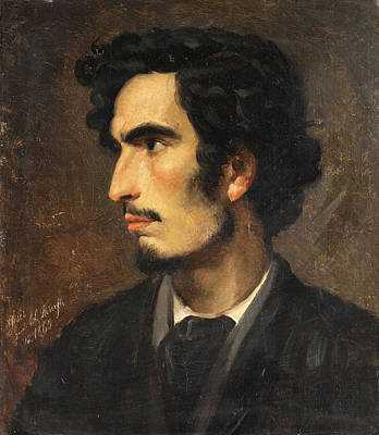 Painting - Portrait Of Nikolaos Gyzis by Ludwig Thiersch