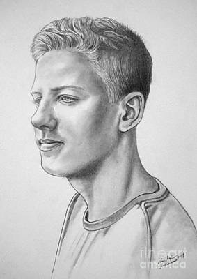 Drawing - Portrait Of Noel by Christopher Shellhammer