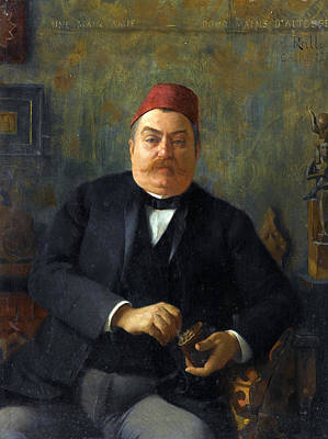 Painting - Portrait Of Nubar Pasha by Theodoros Rallis