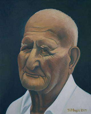 Portrait Of Old Man In St. Louis Art Print by Stephen Degan