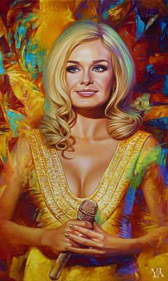 Katherine Jenkins Painting - Portrait Of Opera Singer Katherine Jenkins - Fragment by Yury Fomichev
