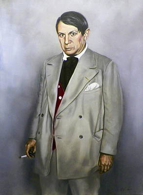 Painting - Portrait Of Pablo Picasso by RB McGrath