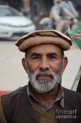 Photograph - Portrait Of Pathan Tuk Tuk Rickshaw Driver Peshawar Pakistan by Imran Ahmed