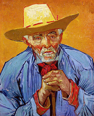 Shirt Painting - Portrait Of Patience Escalier by Vincent van Gogh