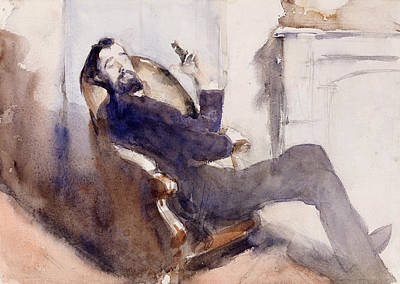 Portrait Of Paul Cesar Helleu Art Print by John Singer Sargent