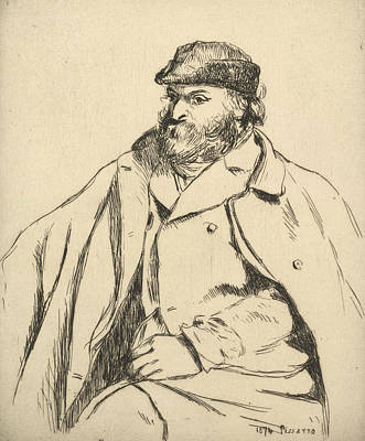 Relief - Portrait Of Paul Cezanne by Camille Pissarro