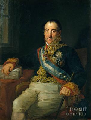 Vicente Painting - Portrait Of Pedro Gomez Labrador by Celestial Images