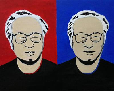 Diptych Portrait Of Photographer Richard Shimizu Original by Paula McColm